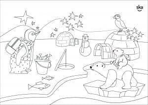 Kleurplaat Ska Kinderopvang